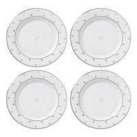 "kate spade new york Larabee Road™ Platinum Monogram Letter ""O"" Tidbit Plates (Set of 4)"