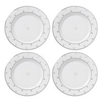 "kate spade new york Larabee Road™ Platinum Monogram Letter ""N"" Tidbit Plates (Set of 4)"