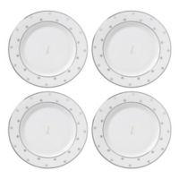 "kate spade new york Larabee Road™ Platinum Monogram Letter ""L"" Tidbit Plates (Set of 4)"
