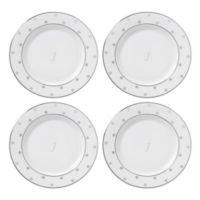 "kate spade new york Larabee Road™ Platinum Monogram Letter ""J"" Tidbit Plates (Set of 4)"