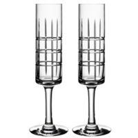 Orrefors Street Champagne Flutes (Set of 2)