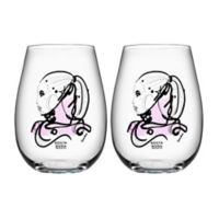 Kosta Boda All About You Tumblers in Love You Pink (Set of 2)