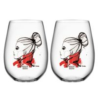 Kosta Boda All About You Tumblers in Want You Red (Set of 2)