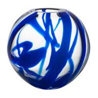 Kosta Boda Globe 9.44-Inch Vase in Blue