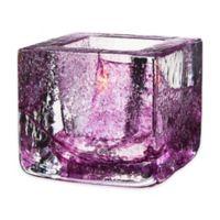 Kosta Boda Brick Votive Candle Holder in Purple