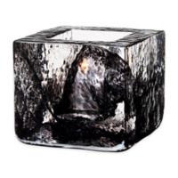 Kosta Boda Brick Votive Candle Holder in Black