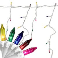 Northlight 7-Foot 100-Light Mini Icicle Christmas Lights in 5 Multicolor