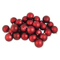 Northlight 60-Pack 2-1/2-Inch Matte Christmas Ball Ornaments in Red
