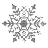 Northlight 24-Pack Snowflake Christmas Ornaments in Silver