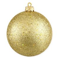 Northlight 8-Inch Holographic Glitter Christmas Ball Ornament in Gold