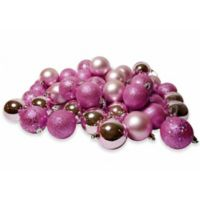 Northlight 96-Pack Christmas Ball Ornaments in Pink