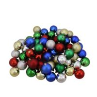 Northlight 96-Pack Multicolor Christmas Ball Ornaments