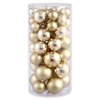 Northlight 50-Pack Christmas Ball Ornaments in Gold