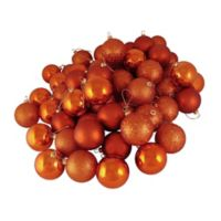 Northlight 32-Pack Christmas Ball Ornaments in Orange