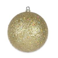 Shatterproof 6-Inch Christmas Ball Ornament in Champagne