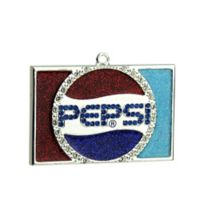 Northlight Silver-Played Pepsi Logo Christmas Ornament