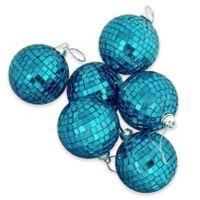 Northlight Peacock Blue Glass Ball Christmas Ornaments (Set of 9)