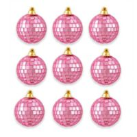 Northlight Pink Glass Ball Christmas Ornaments (Set of 9)