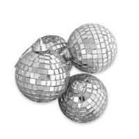 Northlight 4-Pack Glass Christmas Ball Ornaments in Silver