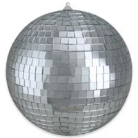 Northlight 8-Inch Glass Disco Christmas Ball Ornament in Silver