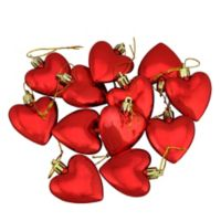 Northlight 12-Pack Heart Christmas Ornaments in Red