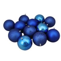 Northlight 12-Pack Christmas Ball Ornaments in Lavish Blue