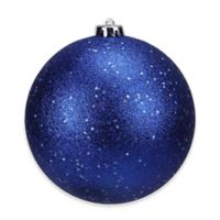 Northlight 6-Inch Christmas Ball Ornament in Lavish Blue Glitter