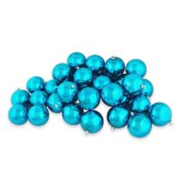 Northlight 2.5-Inch Shatterproof Ornaments in Turquoise (Set of 60)