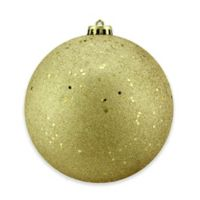 Northlight 6-Inch Glitter Christmas Ball Ornament in Gold