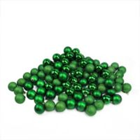 Northlight 96-Piece Christmas Ball Ornaments Set in Christmas Green