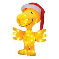 Peanuts® Tinsel Santa Clause Woodstock Christmas Yard Decoration