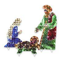 LB International 3-Piece Nativity Illuminated Hographic Yard Art Set