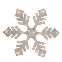 40-Inch Snowflake Christmas Yard Art in White