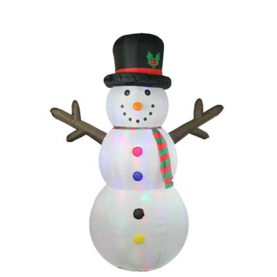 Buy snowman decor from bed bath beyond lb international 8 foot inflatable lighted snowman christmas decoration greentooth Gallery