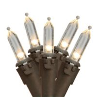 Northlight 12.5-Foot 35-Light LED Mini String Lights in Warm White/Brown Wire