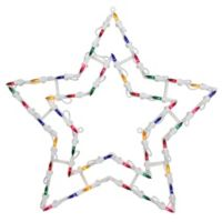 Northlight 18-Inch Lighted Star Window Silhouette Christmas Decoration in White