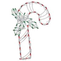 Northlight 18-Inch LED Candy Cane Window Silhouette Christmas Decoration in Green