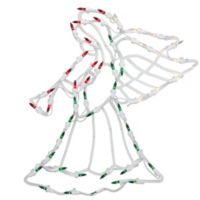 Northlight 18-Inch Lighted Angel Window Silhouette Christmas Decoration in Green