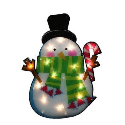 Northlight 15 Lighted Snowman Window Silhouette Christmas Decoration In White
