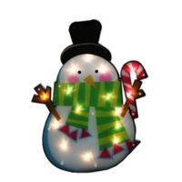 Northlight 15-Lighted Snowman Window Silhouette Christmas Decoration in White
