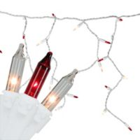 Northlight 100-Light Mini Icicle Christmas Lights in Red/Clear