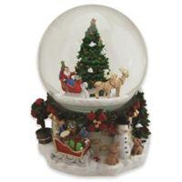 Northlight 6.75-Inch Santa's Sleigh Musical Snow Globe