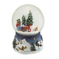 Northlight 6.5-Inch Horse Drawn Carriage Musical Snow Globe