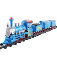 Northlight 14-Piece Battery-Operated Cartoon Christmas Train Set in Blue