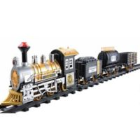 Northlight 12-Piece Battery-Operated Fast Forward Train Set in Black
