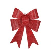 Northlight 17-Inch LED Lighted Bow Christmas Decoration in Red