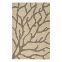 Jaipur Coastal Lagoon Coral 2-Foot x 3-Foot Indoor/Outdoor Accent Rug in Beige