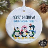 Precious Moments® Penguin 1-Sided Glossy Christmas Ornament