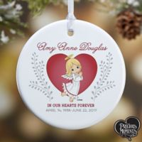 This Precious Moments® 1-Sided Glossy Memorial Christmas Ornament