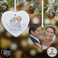 Precious Moments® Wedding Heart 2-Sided Christmas Ornament